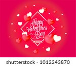 vector valentine's day card... | Shutterstock .eps vector #1012243870