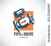 industrial valve stylized... | Shutterstock .eps vector #1012246069