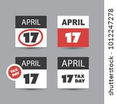 set of usa tax day reminder... | Shutterstock .eps vector #1012247278
