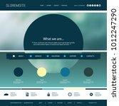 website template with unique... | Shutterstock .eps vector #1012247290