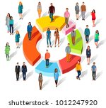 people related to share market. ... | Shutterstock .eps vector #1012247920