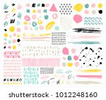 trendy vector set of abstract... | Shutterstock .eps vector #1012248160