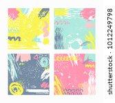 trendy set of brush strokes...   Shutterstock .eps vector #1012249798