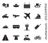 solid black vector icon set  ... | Shutterstock .eps vector #1012249954
