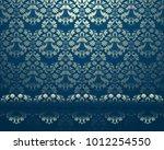 illustration of abstract golden ... | Shutterstock . vector #1012254550
