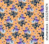 illustration of seamless floral ... | Shutterstock . vector #1012254874
