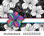 illustration of floral... | Shutterstock . vector #1012255210