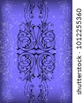 illustration of abstract... | Shutterstock . vector #1012255360