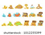 treasure and riches set of game ... | Shutterstock .eps vector #1012255399