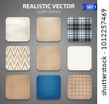 textile texture color realistic ... | Shutterstock .eps vector #1012257469