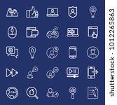 internet outline vector icon... | Shutterstock .eps vector #1012265863