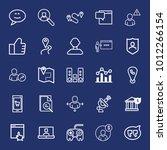 internet outline vector icon... | Shutterstock .eps vector #1012266154