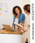 shot of two businesswoman... | Shutterstock . vector #1012267570