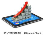 financial trading  banking and...   Shutterstock . vector #1012267678