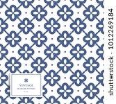blue and white ornamental... | Shutterstock .eps vector #1012269184