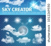sky creator. set realistic... | Shutterstock .eps vector #1012269550