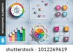 infographic elements data... | Shutterstock .eps vector #1012269619