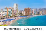 panoramic view on the beach of... | Shutterstock . vector #1012269664