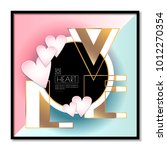 a poster for valentine's day.... | Shutterstock .eps vector #1012270354