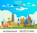 travel to world. vacation. trip ... | Shutterstock .eps vector #1012271440