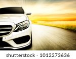 car and background of free... | Shutterstock . vector #1012273636