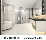 3d rendering cream modern... | Shutterstock . vector #1012275250