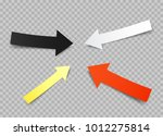 paper arrows set with shadow on ... | Shutterstock .eps vector #1012275814