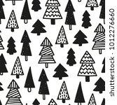 black and white vector seamless ... | Shutterstock .eps vector #1012276660