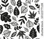 black and white vector seamless ... | Shutterstock .eps vector #1012277128