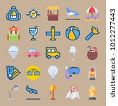 icon set about beach and... | Shutterstock .eps vector #1012277443