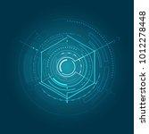 glossy futuristic interface... | Shutterstock .eps vector #1012278448