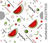 trendy seamless  memphis style... | Shutterstock .eps vector #1012279210