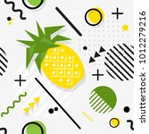 trendy seamless  memphis style... | Shutterstock .eps vector #1012279216