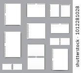 blank square notebook calendar... | Shutterstock .eps vector #1012281028