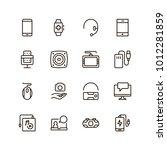 device flat icon set . single...   Shutterstock .eps vector #1012281859
