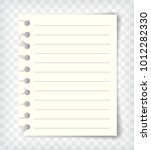 blank lined note book page mock ... | Shutterstock .eps vector #1012282330