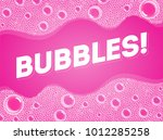 soap bubbles in bath or sud.... | Shutterstock .eps vector #1012285258