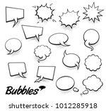 set of blank template in pop...   Shutterstock .eps vector #1012285918