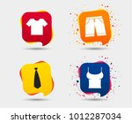 clothes icons. t shirt and... | Shutterstock .eps vector #1012287034