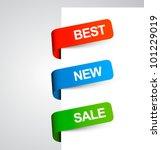 multicolored stickers | Shutterstock .eps vector #101229019