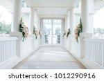 setup wedding ceremony | Shutterstock . vector #1012290916