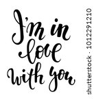 i am in love with you. hand... | Shutterstock .eps vector #1012291210