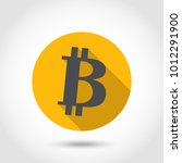 bitcoin icon vector... | Shutterstock .eps vector #1012291900