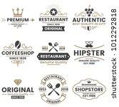 vintage retro vector logo for... | Shutterstock .eps vector #1012292818