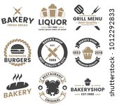 vintage retro vector logo for... | Shutterstock .eps vector #1012292833