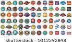 vintage retro vector logo for... | Shutterstock .eps vector #1012292848