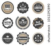 vintage retro vector logo for... | Shutterstock .eps vector #1012292890