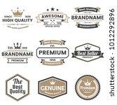 vintage retro vector logo for... | Shutterstock .eps vector #1012292896