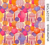 2018 chinese new year  pattern... | Shutterstock .eps vector #1012297243
