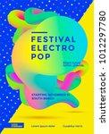 festival electro pop poster... | Shutterstock .eps vector #1012297780